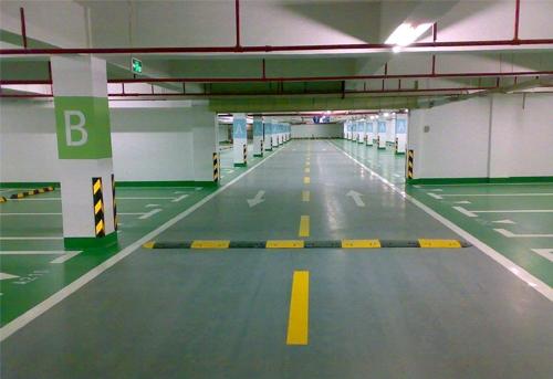 浙江西安停车场划线