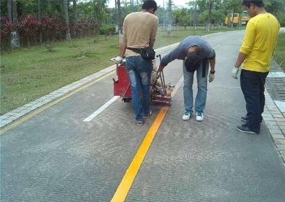 西安交通大学热熔标线项目